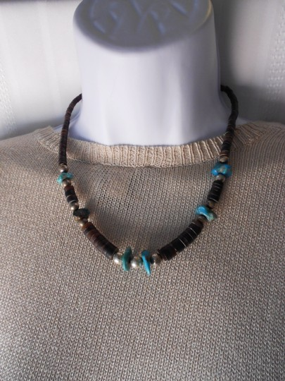 Other Native American Turquoise and Pen Shell Necklace