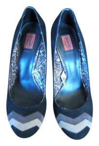 Missoni for Target Black Suede with Missoni Strip on Toe Pumps
