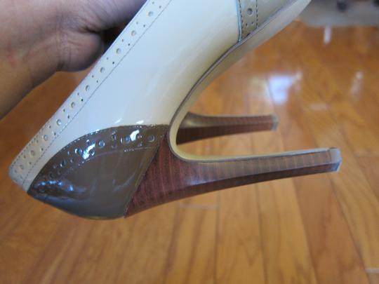 Guess By Marciano Brown and Cream color Boots