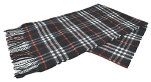 Burberry Burberry Navy Blue Icon Check Cashmere Scarf