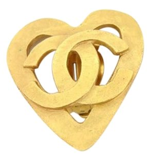 Chanel [ENTERPRISE] Heart Gripoix Clip On Earrings 167563 CCAV313
