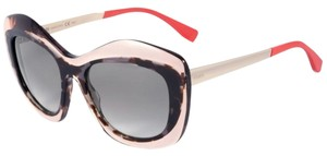 Fendi NEW Fendi FF0029/S Multicolor Abstract Handmade Cat Eye Sunglasses