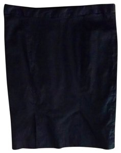 Max Studio Pencil Size 10 Lined Linen Blend Silk Lining P1488 Skirt black