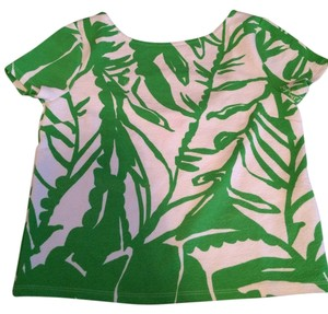 Lilly Pulitzer T Shirt Green and White