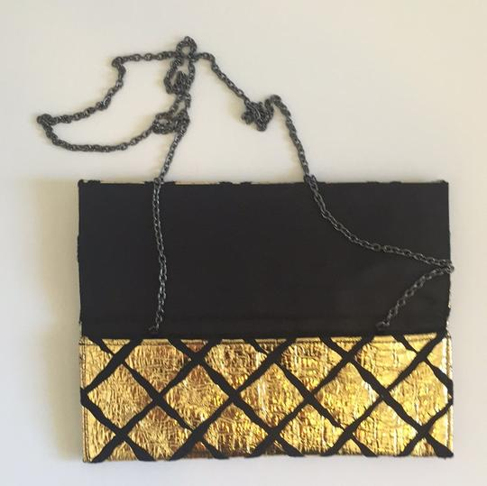 BCBGeneration Evening Like New Black/Gold Clutch