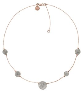 Michael Kors NWT Michael Kors Rose Gold Pave Disc Necklace