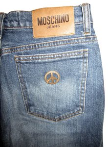 Moschino Straight Leg Jeans-Medium Wash