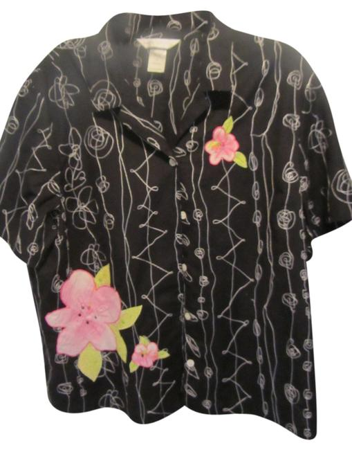 napa valley Top black with embroidery