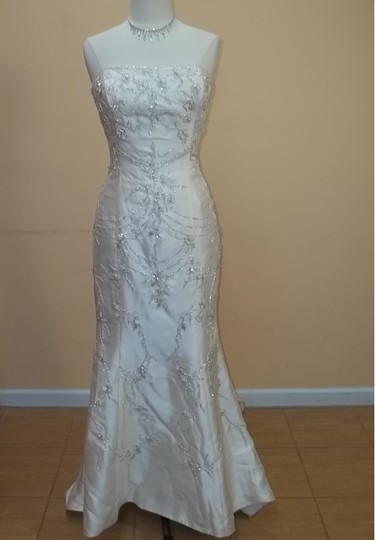 Preload https://item1.tradesy.com/images/impression-bridal-champagnesilver-f2856-formal-wedding-dress-size-16-xl-plus-0x-414470-0-1.jpg?width=440&height=440