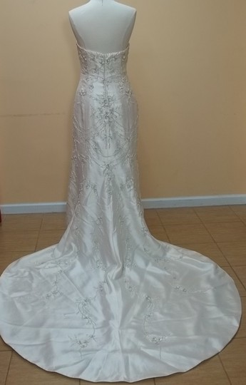 Impression Bridal Champagne/Silver F2856 Formal Wedding Dress Size 16 (XL, Plus 0x)