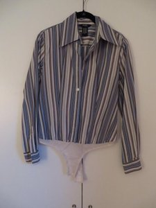 Victoria's Secret Top Blue Stripes