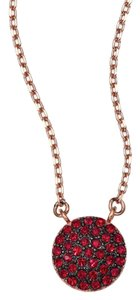 Michael Kors NEW WITH TAGS! Michael Kors Rose Golden And Ruby Red Brilliance Small Pave Disc Necklace