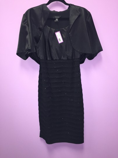 R & M Richards Black Formal Bridesmaid/Mob Dress Size 12 (L)