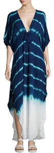 Blue Tie-Dye Maxi Dress by Young Fabulous & Broke Maxi Tie Dye Boho