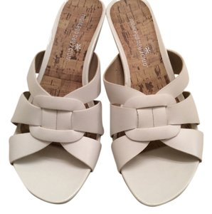 Montego Bay Club Slip On White with cork Sandals