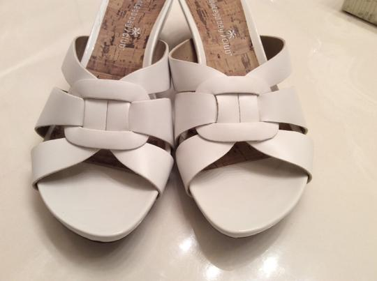 Montego Bay Club Slip Wedge White with cork Sandals