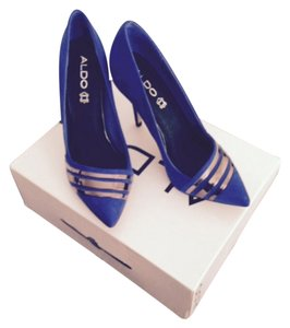ALDO Royal blue with silver finishings Pumps