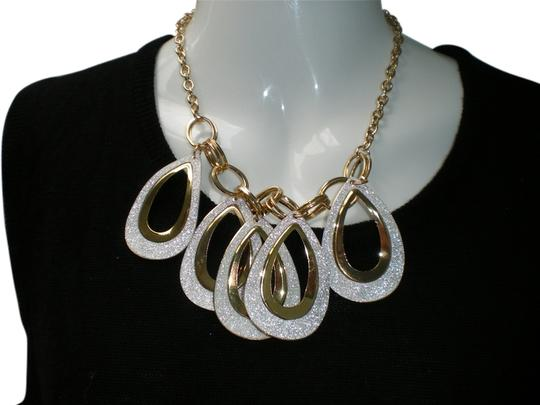 Macy's Macys Gold Tone Necklace with pave New with tag