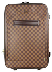 a0b93db24 Louis Vuitton Rolling Luggage Suitcase Trolley Carr-on Damier Ebene Travel  Bag