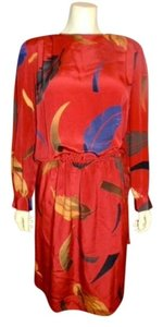 Neiman Marcus Silk Red Size 4 Dress