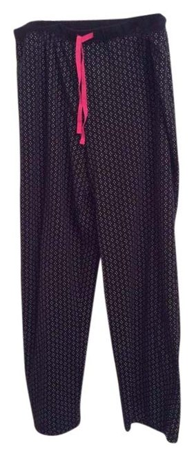 Ellen Tracy Lounging Lounging Pj Lounging Pj Wide Leg Pants Black with white dots
