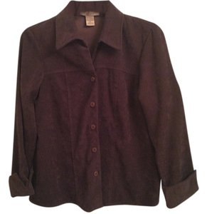 Notations Petite Suede-like Jacket Chocolate Brown Blazer