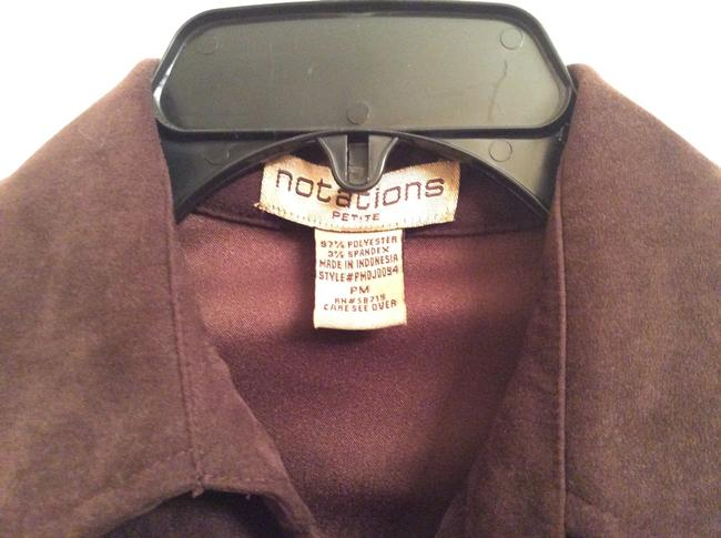 Notations Petite Suede-like Jacket Brown Brown Light Brown Suede-like Jacket Chocolate Brown Blazer