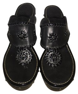 Jack Rogers Black Wedges