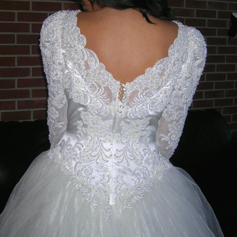 Wedding Dress White Vs Off White: Off White/Cream Satin Vintage Beaded Sequin Lace Bridal