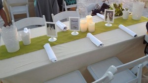 Sand Off White Colored Table Linen 90x132 Tablecloth