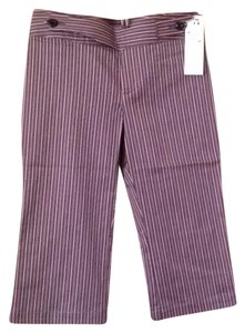 Nanette Lepore Straight Pants Pink and black striped