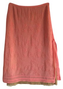 Herv Leger Mini Skirt Coral