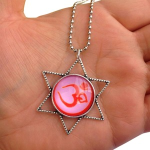OM Symbol, Yoga, Mysticism, Charm Necklace