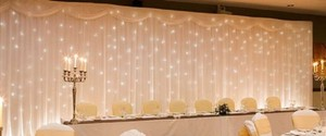 White Led Backdrop Lights. Led Backdrop Drapes. Canopy/Chuppah