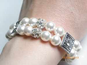 Other Rhinestone Crystal Pearl Bridal Bracelet