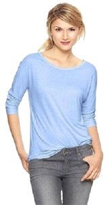 Gap Fluid Dolman Sleeve Comfortable Spring Lightweight T Shirt Blue