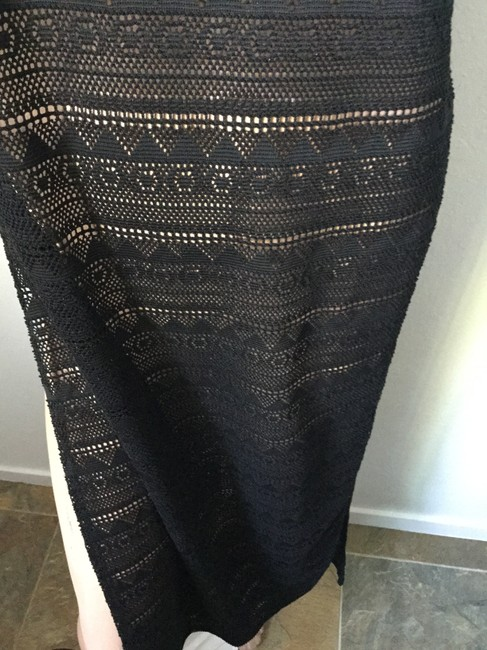 Black Open Weave Maxi Dress by Say What? Side Slits See-thru Knit Shear Summer Beach Rivera Ocean Sea Cruise Long Slits Leg Bathing Suit Cover Up Date Night