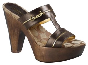 Coach Brown Leather Sandals