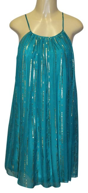 Preload https://img-static.tradesy.com/item/4147801/milly-turquoise-knee-length-night-out-dress-size-10-m-0-0-650-650.jpg
