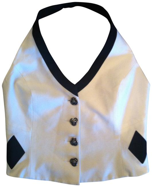 Entre Deux Modes by Carrie Rouveyrol Designer Elegant Top White and Navy