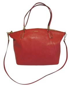 Coach Madison Large Kelsey Cross Body Satchel in PINK SCARLET