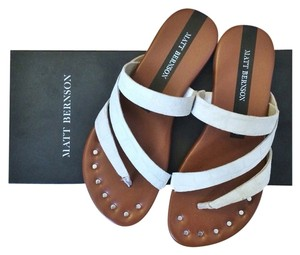 Matt Bernson White Croc Sandals