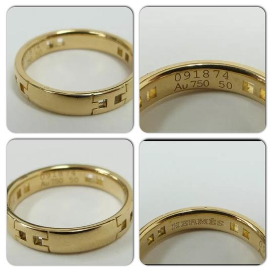 Hermès Gold 18k Women's/Men's Band Ring