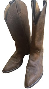 Justin Boots Leather Cowboy Western brown Boots