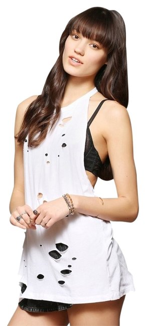 Item - White Urban Outfitters Disintegrated T Tank Top/Cami Size 4 (S)