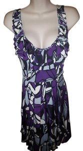 Forever 21 short dress Purple floral on Tradesy