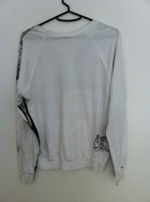 American Apparel T Shirt White and grey