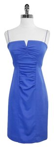 Nicole Miller short dress Blue Silk Blend Spaghetti on Tradesy