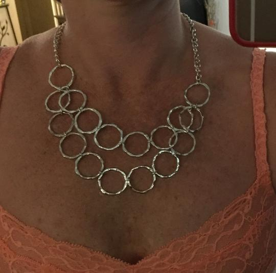 Other Silver Circle Statement Necklace