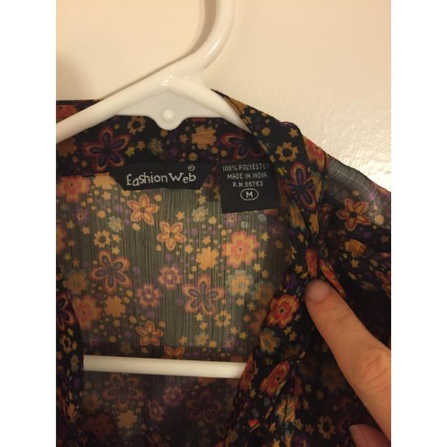 Fashion web Top Black and floral design